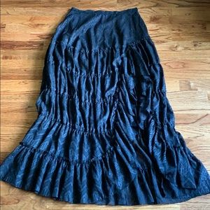NEW! Free People High Low Tiered Maxi Skirt
